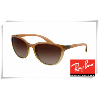 Ray Ban RB4167 Cats Sunglasses Light Brown Frame Brown Gradient Lens