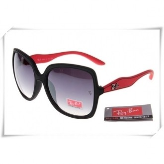 Ray Ban RB2085 Jakie Ohh Sunglasses Red Black Frame Grey Gradient Lens