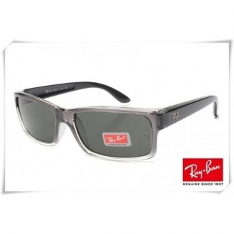 Ray Ban RB4151 Sunglasses Black Clear Frame Classic Green Lens