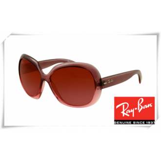 Ray Ban RB4098 Jakie Ohh II Sunglasses Brown Frame Wine Red Lens