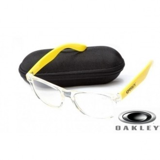 Fake Oakley Frogskins Sunglasses Clear Yellow Frame Transparent Lens OAKLEY201567364