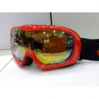 Oakley Goggle A Frame Polishing Red Frame Yellow Blue Lens