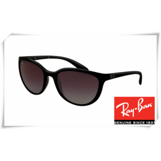 Ray Ban RB4167 Cats Sunglasses Black Frame Grey Gradient Lens