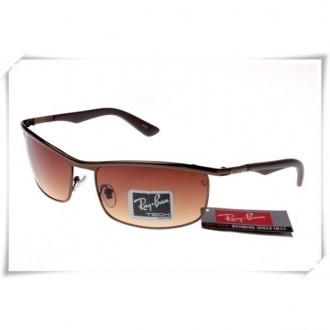 Ray Ban RB3459 Sunglasses Brown Frame Brown Gradient Lens