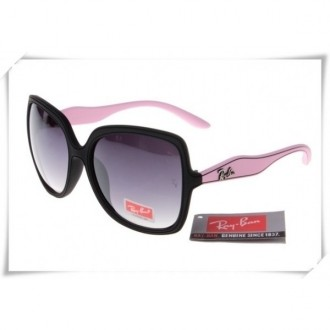 Ray Ban RB2085 Jakie Ohh Sunglasses Pink Black Frame Grey Gradient Lens