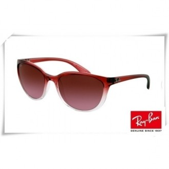 Ray Bans Erika RB4274 Sunglasses Wine Red Gradient Frame Brown Mirror Lens