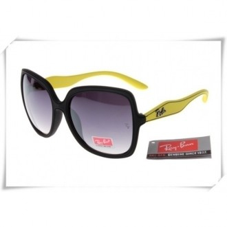Ray Ban RB2085 Jakie Ohh Sunglasses Yellow Black Frame Grey Gradient Lens