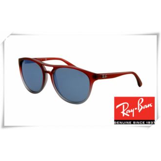 Ray Ban RB4170 Sunglasses Red Gradient Frame Blue Lens