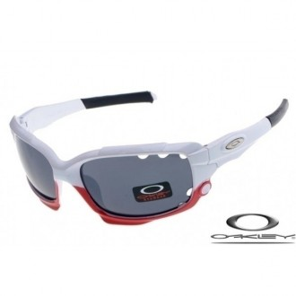 Oakley Limited Edition Fathom Racing Jacket Sunglasses White Red / Gray