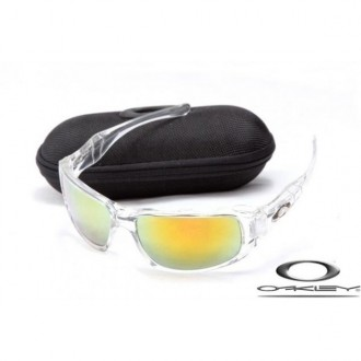 Cheap Oakley c six sunglasses Clear Frame Fire Yellow Lens for sale