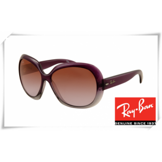 Ray Ban RB4098 Jakie Ohh II Sunglasses Purple Frame Brown Gradient Lens