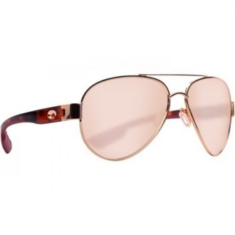 Costa South Point Shiny Blush Gold With Rose Tortoise Temples Sunglasses
