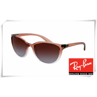 Ray Ban RB4167 Cats Sunglasses Light Brown Frame Grey Gradient Lens