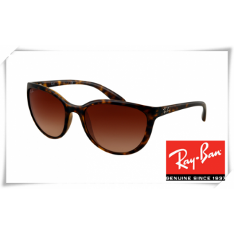 Ray Ban RB4167 Cats Sunglasses Tortoise Frame Brown Gradient Lens
