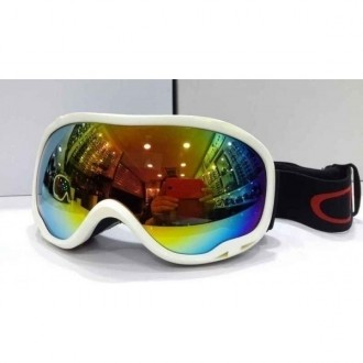 Oakley Goggle A Frame White Frame Fire Yellow Lens