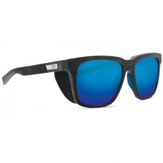 Costa Pescador With Side Shield Net Gray With Blue Rubber Sunglasses