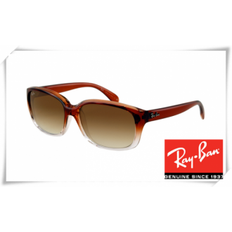 Ray Ban RB4161 Sunglasses Brown Gradient Frame Grey Gradient Lens