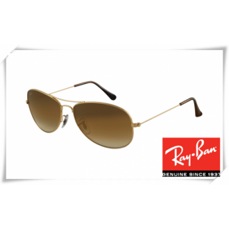 Ray Ban RB3362 Cockpit Sunglasses Arista Frame Crystal Brown Gradient Lens
