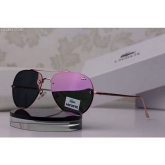 Lacoste Rimless Sunglasses Limited Edition Rose Red