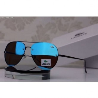 Lacoste Rimless Sunglasses Limited Edition Blue Mirror