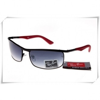 Ray Ban RB3459 Sunglasses Black Red Frame Grey Gradient Lens