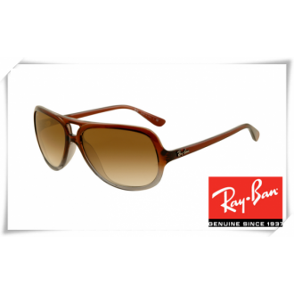 Ray Ban RB4162 Sunglasses Brown Gradient Frame Brown Gradient Lens
