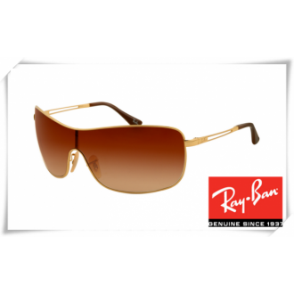 Ray Ban RB3466 Sunglasses Arista Frame Brown Gradient Lens