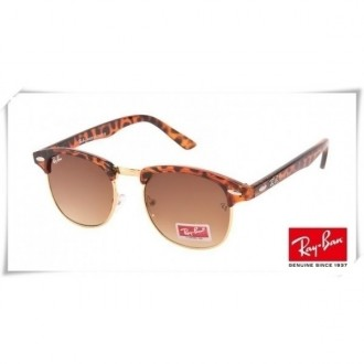 Ray Ban RB3016 Classic Clubmaster Sunglasses Tortoise Brown Red Frame Brown Lens