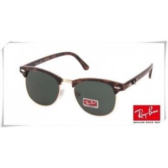 Ray Ban RB3016 Classic Clubmaster Sunglasses Tortoise Frame Grey Lens