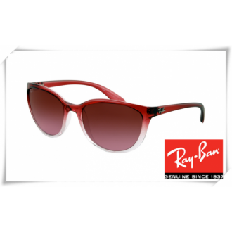 Ray Ban RB4167 Cats Sunglasses Red Frame Red Gradient Lens