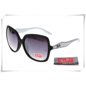Ray Ban RB2085 Jakie Ohh Sunglasses White Black Frame Grey Gradient Lens